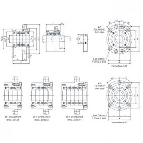 NSK WBK35DFD-31 Double Row Cylindrical Roller Bearings #1 image